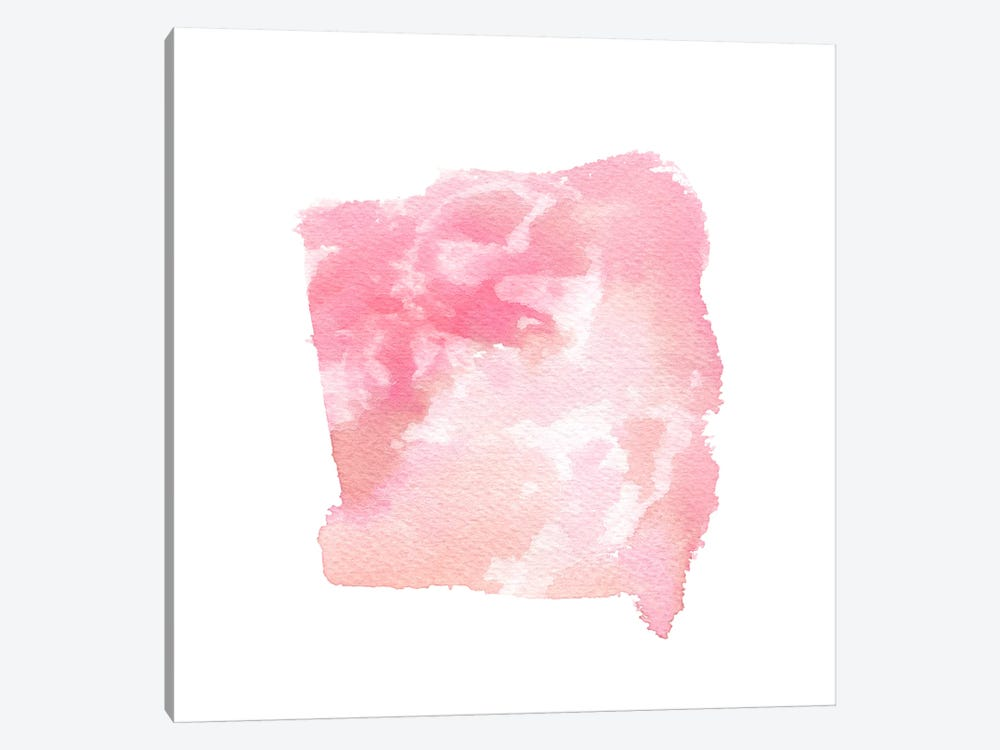 Watercolor Shapes, Blush by Stephanie Corfee 1-piece Art Print