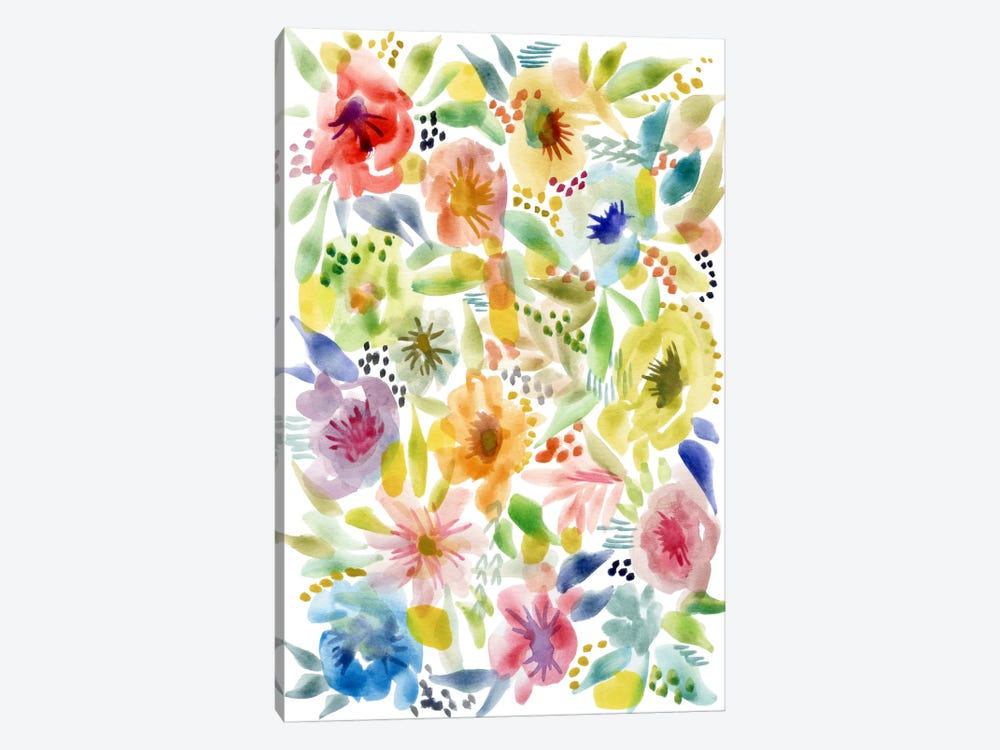 Watery Flowers by Stephanie Corfee 1-piece Canvas Art Print