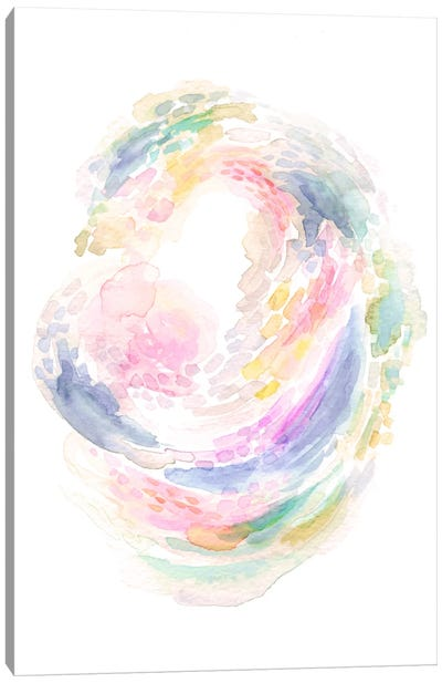Whirling Petals Canvas Art Print