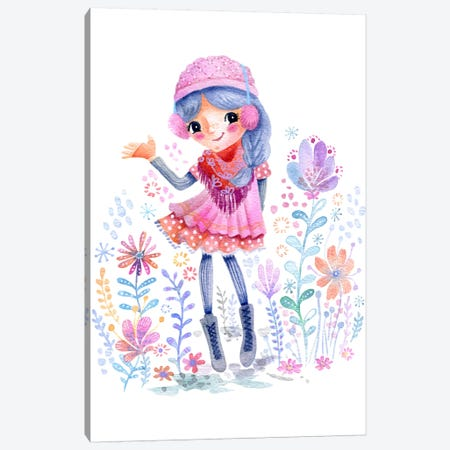 Winter Girlie Canvas Print #STC162} by Stephanie Corfee Canvas Print