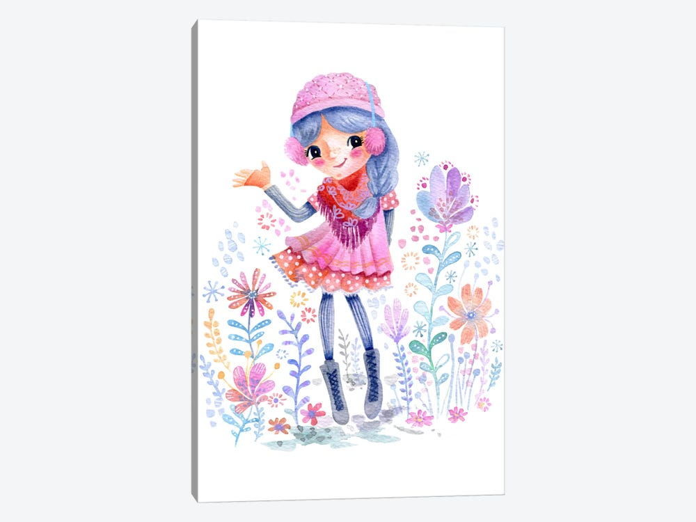 Winter Girlie 1-piece Canvas Artwork