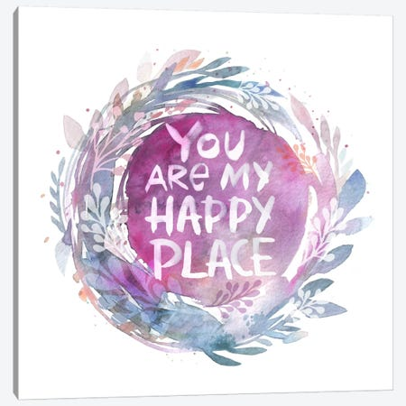 You Are My Happy Place Canvas Print #STC164} by Stephanie Corfee Canvas Artwork