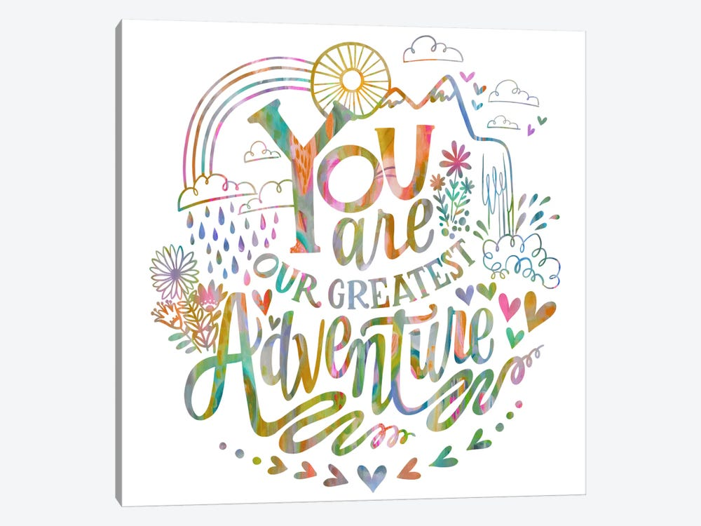 You Are Our Greatest Adventure by Stephanie Corfee 1-piece Canvas Art Print