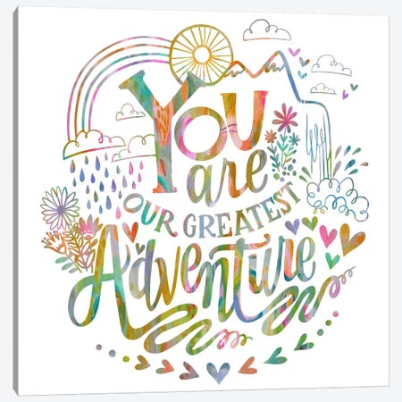 You Are Our Greatest Adventure 3-Piece Canvas #STC165} by Stephanie Corfee Canvas Artwork