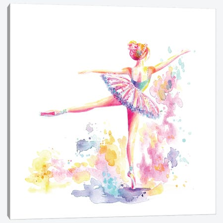 Ballerina Arabesque Canvas Print #STC167} by Stephanie Corfee Canvas Art