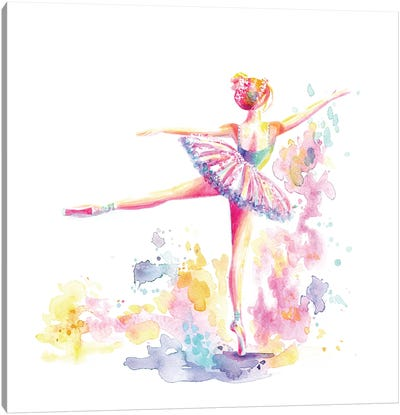 Ballerina Arabesque Canvas Art Print