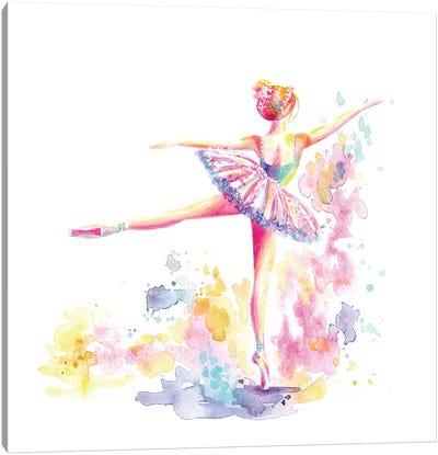 Ballerina Arabesque Canvas Art Print