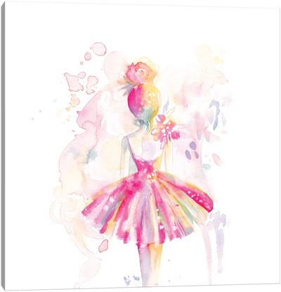 Ballerina Back Canvas Art Print