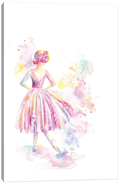 Ballerina Long Tutu Canvas Art Print