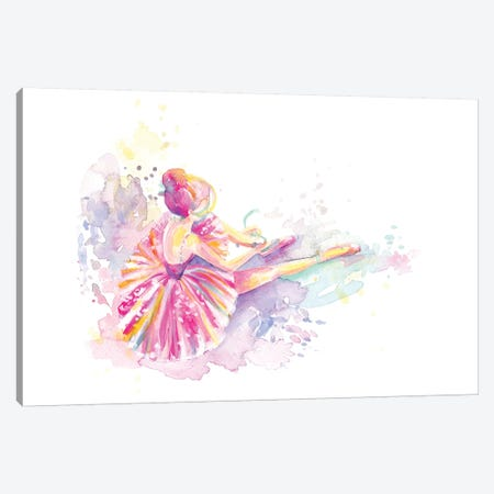 Ballerina Pointe Shoe Tie Canvas Print #STC172} by Stephanie Corfee Canvas Art