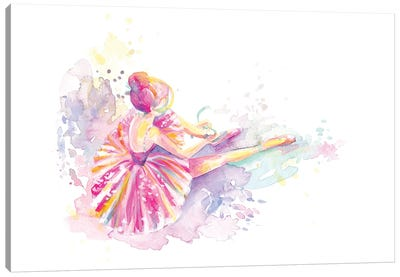 Ballerina Pointe Shoe Tie Canvas Art Print