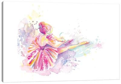 Ballerina Pointe Shoe Tie Canvas Art Print