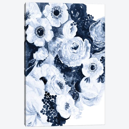 Bed Of Indigo Roses Canvas Print #STC174} by Stephanie Corfee Art Print