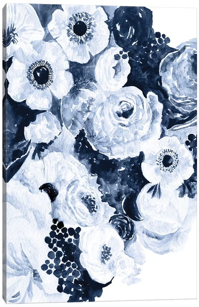 Bed Of Indigo Roses Canvas Art Print