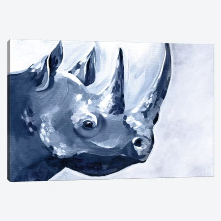 Blue Rhino Canvas Print #STC175} by Stephanie Corfee Canvas Print
