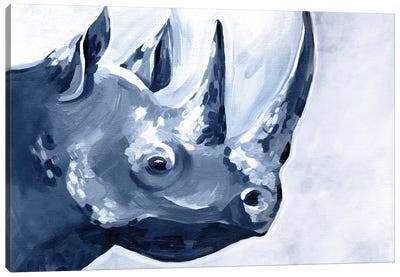 Blue Rhino Canvas Art Print
