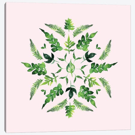Botanical Mandala Canvas Print #STC176} by Stephanie Corfee Canvas Art Print