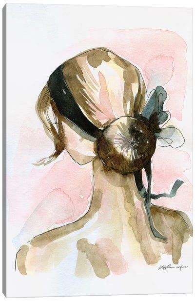 Elegant Chignon Canvas Art Print