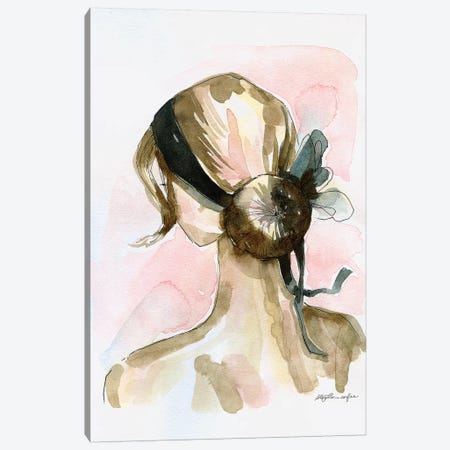 Elegant Chignon Canvas Print #STC177} by Stephanie Corfee Art Print