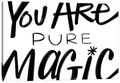 Pure Magic In Black And White Canvas Art Print