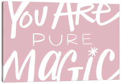 Pure Magic In Pink  Canvas Art Print