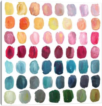 Color Palette Canvas Art Print