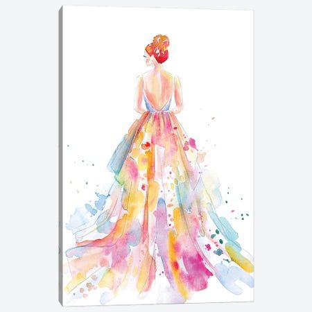 Watercolor Bride Canvas Print #STC196} by Stephanie Corfee Canvas Art Print