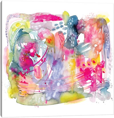 Colorful Chaos Canvas Art Print