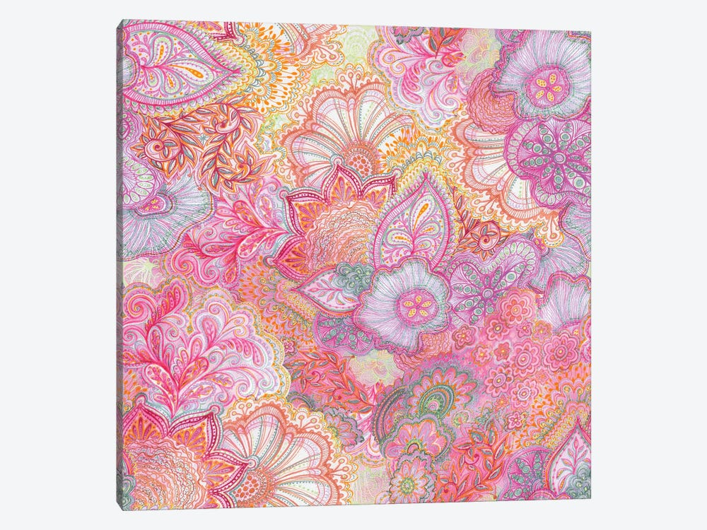 Flourish Girlie Pinks by Stephanie Corfee 1-piece Canvas Art Print