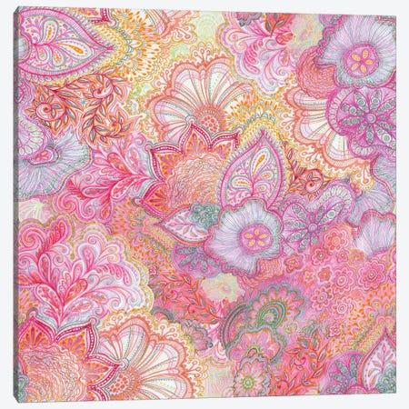 Flourish Girlie Pinks Canvas Print #STC29} by Stephanie Corfee Canvas Artwork