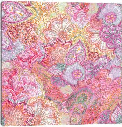 Flourish Girlie Pinks Canvas Art Print