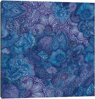 Flourish Indigo Canvas Art Print