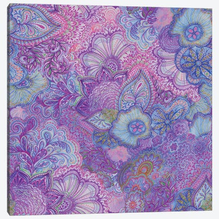 Flourish Purply Canvas Print #STC31} by Stephanie Corfee Canvas Print