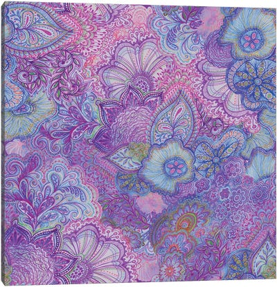 Flourish Purply Canvas Art Print