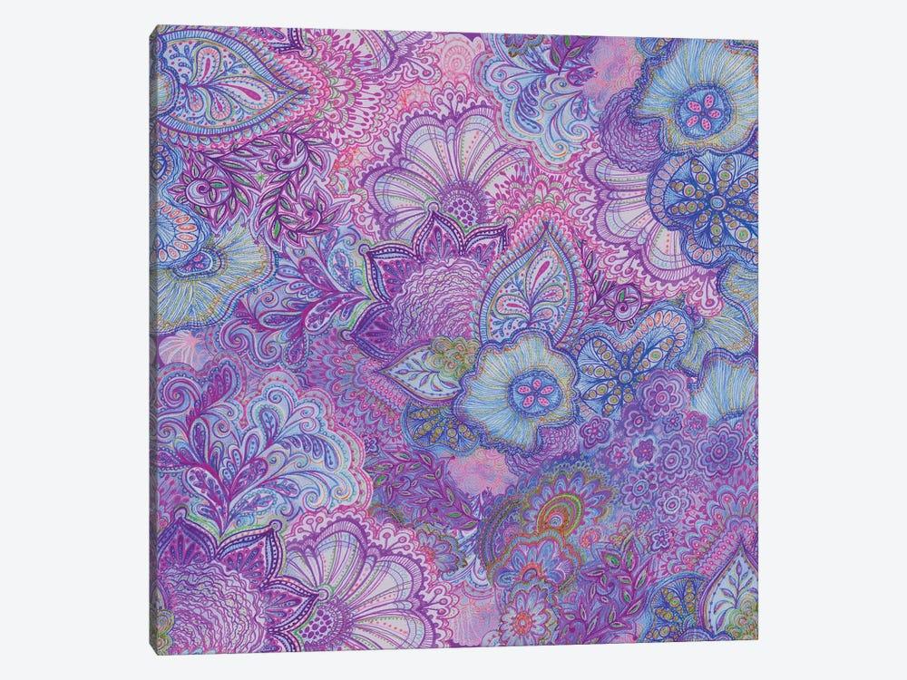 Flourish Purply by Stephanie Corfee 1-piece Canvas Art