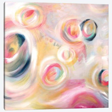 Girlie Go Round 3-Piece Canvas #STC33} by Stephanie Corfee Canvas Art Print