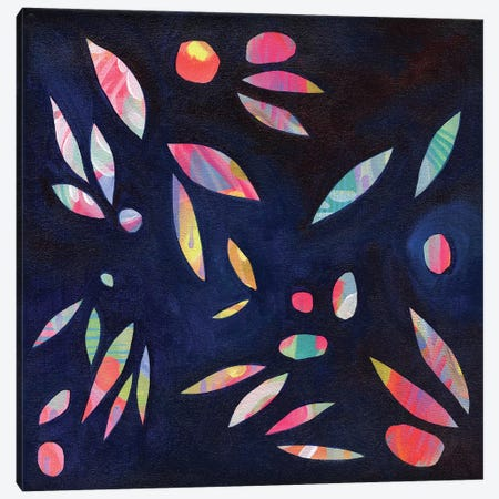Rainbow Leaves Canvas Print #STC61} by Stephanie Corfee Canvas Wall Art