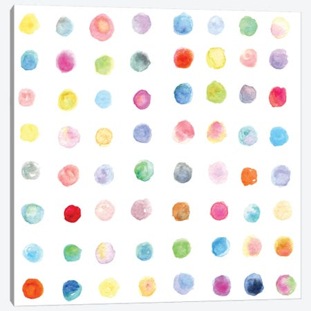 Watercolor Dots Canvas Print #STC79} by Stephanie Corfee Canvas Print
