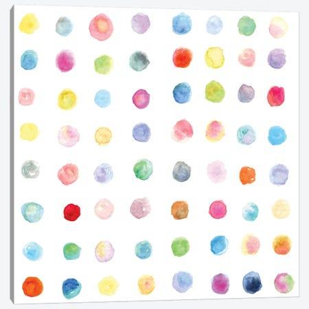 Watercolor Dots Canvas Print #STC79} by Stephanie Corfee Canvas Print