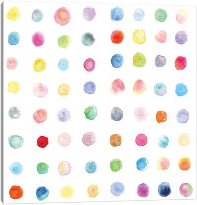 Watercolor Dots Canvas Art Print