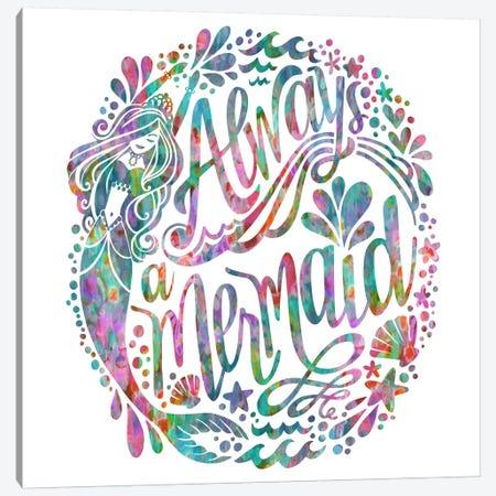 Always A Mermaid Canvas Print #STC84} by Stephanie Corfee Art Print