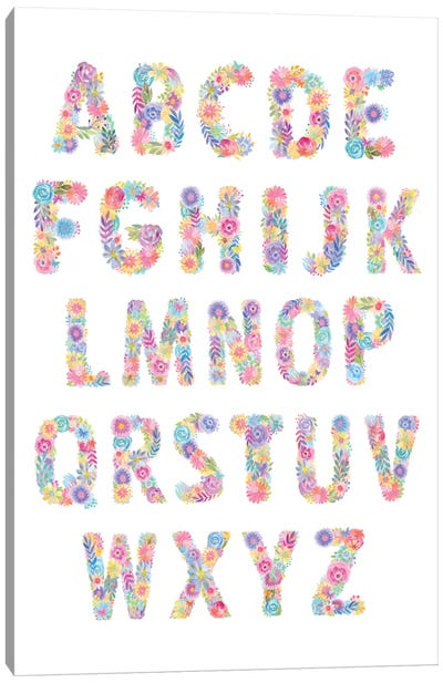 Blooming Alphabet Canvas Art Print
