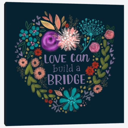 Build A Bridge Canvas Print #STC92} by Stephanie Corfee Art Print