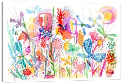 Butterfly Grass Canvas Art Print