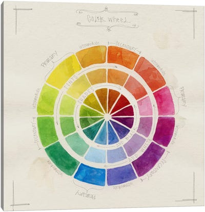 Color Wheel Sketch Canvas Art Print