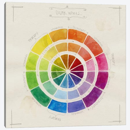 Color Wheel Sketch Canvas Print #STC98} by Stephanie Corfee Art Print