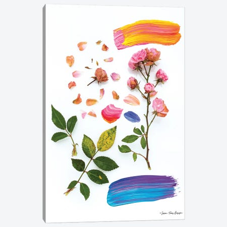 Flowers and the Paint Canvas Print #STD106} by Seven Trees Design Canvas Print