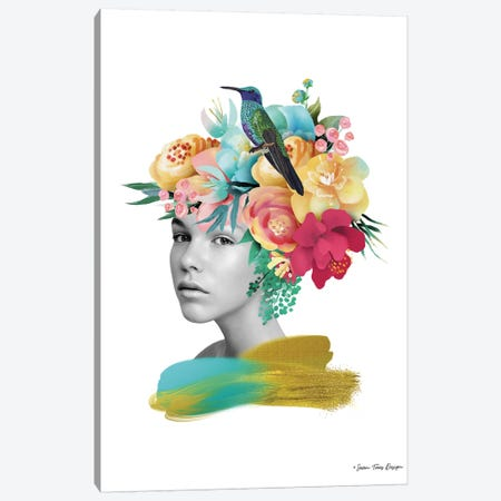 The Girl and the Paradise Canvas Print #STD107} by Seven Trees Design Canvas Art Print