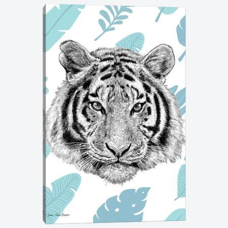Tropical Tiger Canvas Print #STD110} by Seven Trees Design Art Print
