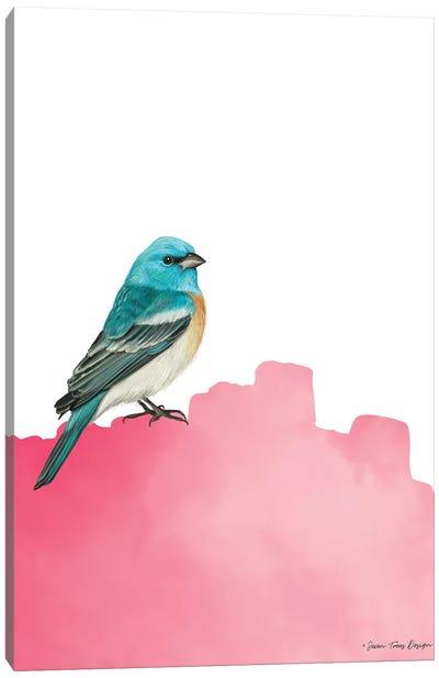 Bird On Pink Canvas Art Print